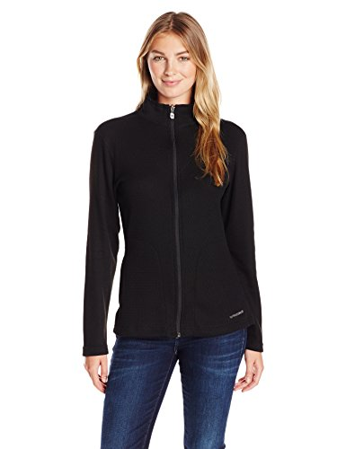 Hot Chillys Women's Pueblo Full Zip Jacket, Black, - Women Hot Full