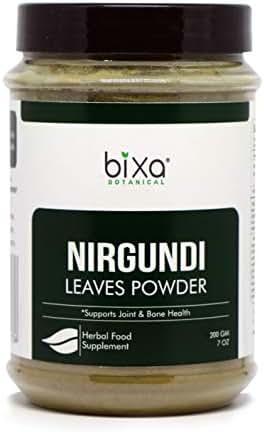 Nirgundi Leaf Powder (Vitex negundo), Supports Joint & Bone Health by Bixa Botanical - 7 Oz (200g)