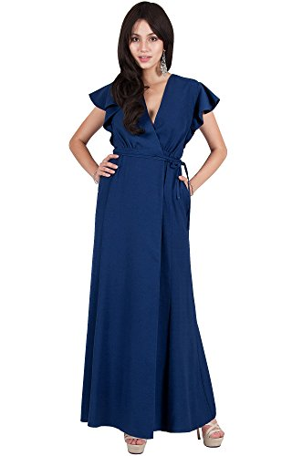 Viris Zamara Womens Long Wrap Sexy Deep V-Neck