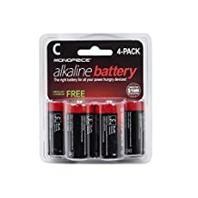 Monoprice C Alkaline Battery, 4-Pack (110366)