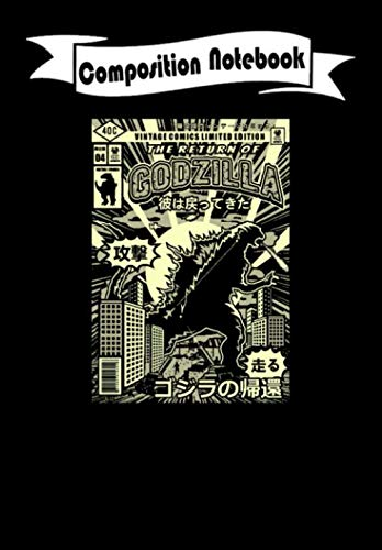 Composition Notebook: Comic Series: The Return of Godzilla Cover - Comic, Journal 6 x 9, 100 Page Blank Lined Paperback Journal/Notebook