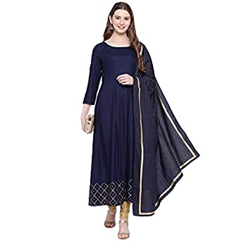 Stylum Women's Rayon Kurta With Dupatta