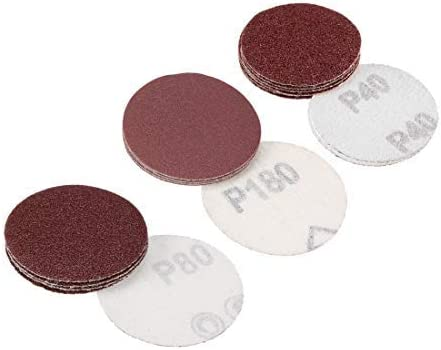 2-inch hook and loop sanding discs, 150 grit abrasive grit sanding pads 10 pieces