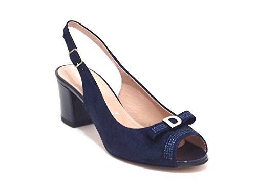 Donna Serena - Sandalias de vestir para mujer Azul azul