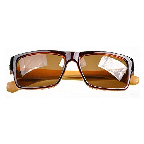 LOMOL Unisex Fashion Trendy Wooden Frame UV Protection Wayfarer - Polarisation Water Of