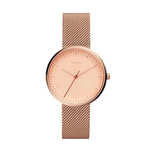 Fossil Women Essentialist Quartz Stainless Steel Dress Watch, Color: Rose...