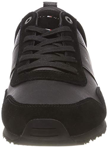 Hilfiger Homme Runner Noir Basses Sneakers black 990 Suede Leather Iconic Mix Tommy Cfqdq