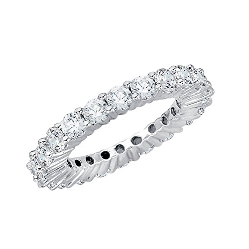 Diamond Eternity Band in Sterling Silver (2 3/8 cttw) (GH-Color, I2/I3-Clarity) (Size-11.25) by KATARINA