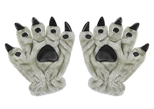Unisex Halloween Cosplay Gloves Animal Costume Dinasour Cat Paw Claw Wolf Gloves -