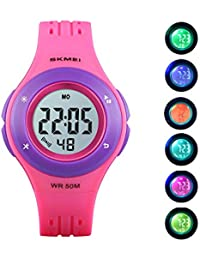 Kids Digital Sport Watch Outdoor 50M Waterproof LED Multi...