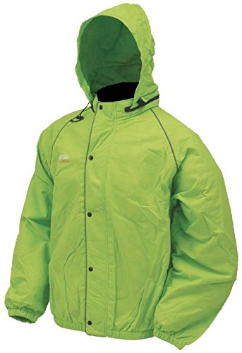 Frogg Toggs Unisex-Adult High Visibility Road Toad Rain Jacket (Green, Medium) (Frogg Toggs Motorcycle Rain Gear compare prices)