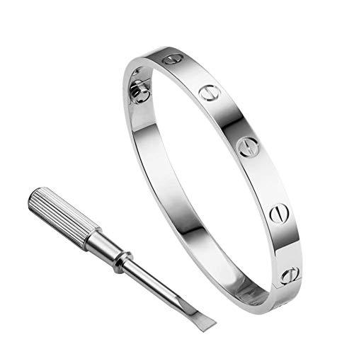Umiwe Love Bracelet, 18k Screw Bracelet, Titanium Steel Bracelet, Buckle Bangle Bracelet with Screwdriver