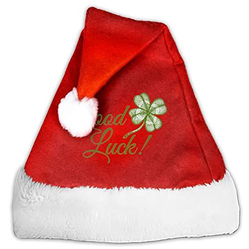 Plush Christmas Hat Santa Hats Costume for Christmas Party Good Luck ()