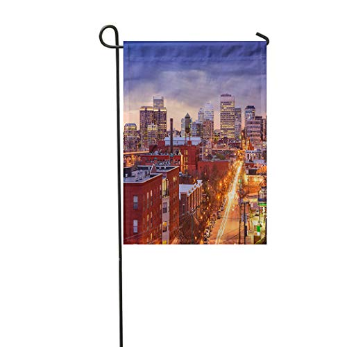 Vooft Double Sided Garden Flag Richmond Virginia USA Downtown Cityscape Over 28