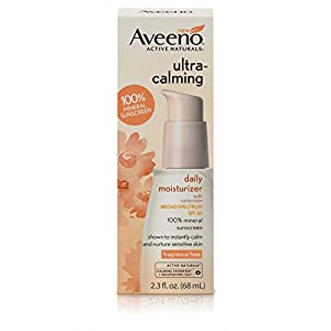 Aveeno Ultra-Calming Daily Fragrance-Free Moisturizer for Sensitive Skin with SPF 30, 2.3 fl. oz