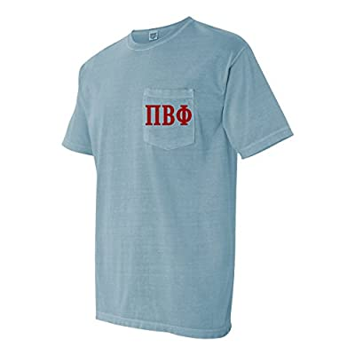 Cheap Pi Beta Phi Sorority Comfort Colors Pocket T-Shirt hot sale