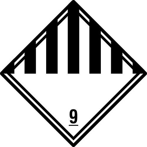 Gefahrgutaufkleber - Klasse 9 - Verschiedene gefährliche Stoffe und ...