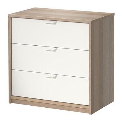 Ikea Askvoll - Cómoda de 3 cajones - 70x68 cm: Amazon.es: Hogar