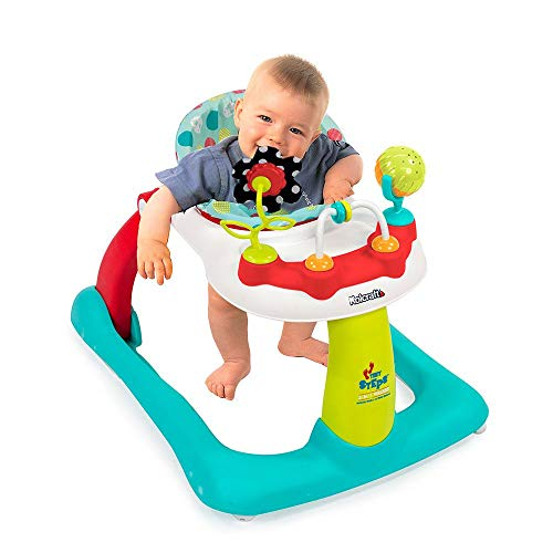 Tiny Steps 2-in-1 Activity Walker -Seated or Walk-Behind Position, Easy to Fold, Adjustable Seat Height, Fun Toys & Activities for Baby, Jubliee -