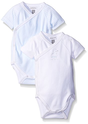 absorba Baby Boys' Two Pack Short Sleeve Body Suit Set, Mutli, 6-9 - Mutli Apparel