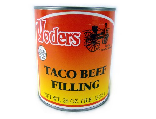 (Yoders Canned Taco Seasoned Beef-long Shelf Life, 28oz)