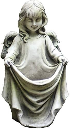 FLYAND 立ち翼の天使アウトドアホームガーデンの彫像、庭ガーデンパティオホーム玄関廊下用レトログレーケルビムプランターの置物