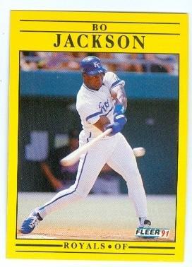 Bo Jackson Baseball Card Kansas City Royals Bo Knows 1991 Fleer 561