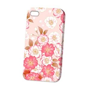 TYH - Case Fun Apple iPhone 4/4s Case - Vogue Version - D Full Wrap - Japanese Flowers ending phone case