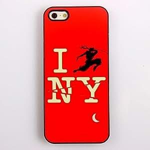 MOFY- Amo el caso duro Design aluminio Nueva York para el iPhone 4/4S