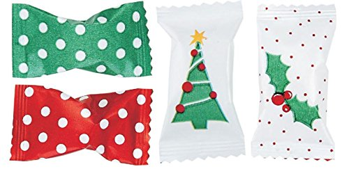 Christmas Holiday Themed Buttermints 100 Count Wrapped - Mint Candy