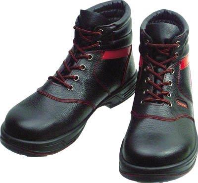 TRUSCO シモン 安全靴 編上靴 SL22-R黒/赤 26.5cm SL22R26.5 B015DZI4E0