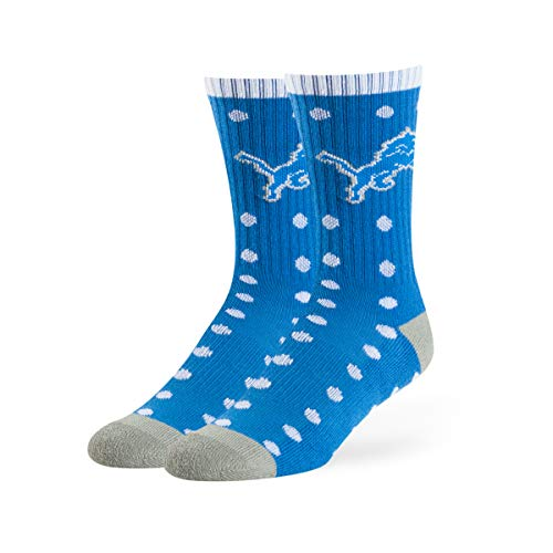OTS NFL Detroit Lions Lucelle Sport Socks, Blue Raz, Medium