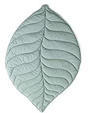 Baby Leaves Carpet Play Sleeping Mat Crawling Blanket Cotton Soft Green Pad Outdoor Decorations