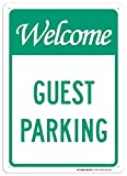 Welcome Guest Parking Sign - 10''x14'' - .040 Rust Free Aluminum - Made in USA - UV Protected and Weatherproof - A82-569AL