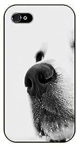 iPhone 4S White dog nose - black plastic case / dog, animals, dogs