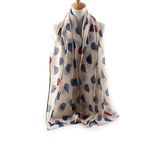 Hedgehog Outfits (ctshow hedgehog Print Voile Print Scarf Fashionable Women Scarves shawl)