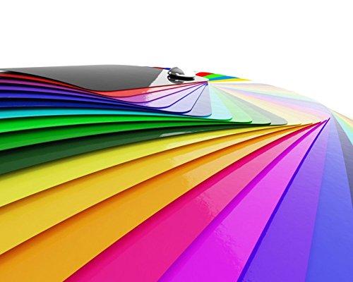 Premium Möbelfolie Hochglanz - Schwarz - 1 Meter x 63 cm (Rollenware am Stück) und Bastelfolie 32 Farben - verschiedene Größen - Küchenfolie - Klebefolie für Möbel, Türen selbstklebende Folie Küche, Meterware