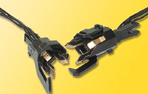 Nem 362 Coupler - Electrically Conductive Couplers w/Wire Lead -- Fits NEM 362 Coupler Pocket, 4-Pole, Max .5A Current pkg(2)