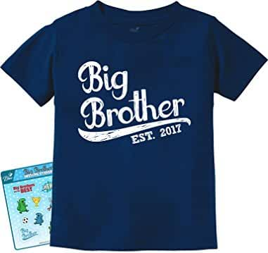 Gift for Big Brother 2017 Kids T-Shirt With Big Brother Stickers