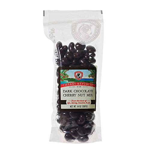 Cherry Republic Dark Chocolate Cherry Nut Mix - Nutrition-rich Trail Mix Featuring Dark Chocolate Coated Tart Dried Cherries, Roasted Pecans, Cashews & Almonds - All-purpose Snack Mix - 14 Ounces (Cherry And Tart Almond)
