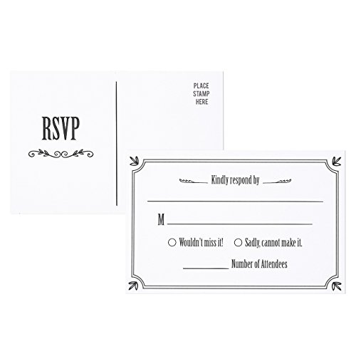 50-Pack-RSVP-Postcards-Blank-Response-Card-Wedding-Return-Cards-RSVP-Reply-for-Parties-and-Receptions-Self-Mailer-Mailing-Side-Postcards-50-Cards-Per-Pack-Postage-Saver-4-x-6-Inches