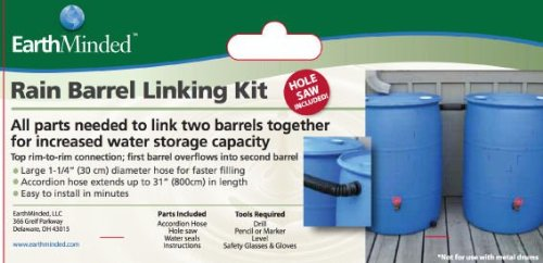 Rain Barrel Connector Kit (EarthMinded Rain Barrel Linking Kit)