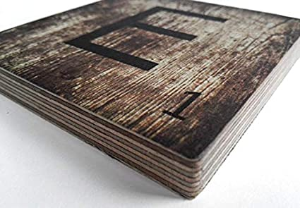 K/&L Wall Art 3D Holzschild Herz Wandbild aus Holz 10cm Scrabble Buchstabenstein T/ürschild Holz Deko Kinderzimmerdekoration
