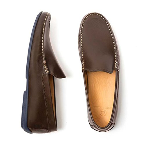 Heller Classics Men's Loafers Driving Brown Leather Austen 8wpdqtRp