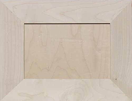 13H x 18W Unfinished Maple Mitered Flat Panel Cabinet Door by Kendor