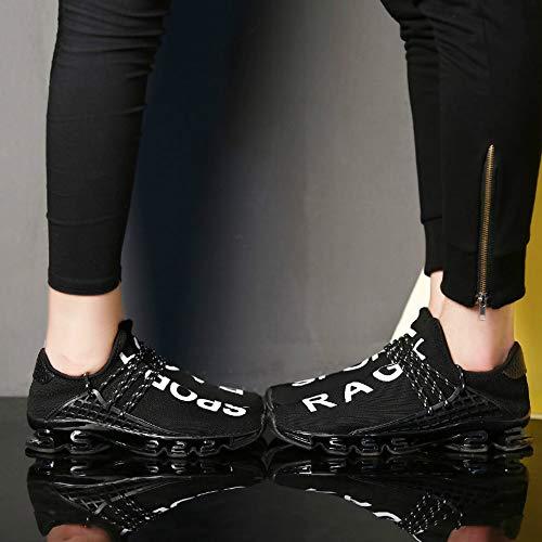 Course Baskets Noir Airavata Chaussures Hommes Doux Respirant De Confort Plein Athltique shmz815 Mode Sports Air Mesh Casual O7wqAS