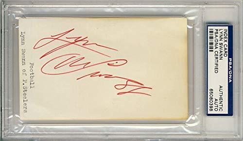 Lynn Swann Autographed Signed Memorabilia 3X5 Index Card - PSA/DNA Authentic