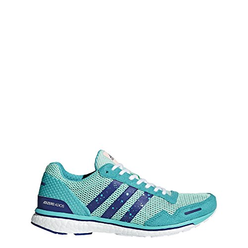adidas Women's Adizero Adios 3 Running Shoe, Clear Mint/Mystery Ink/hi-res Aqua, 9 M US