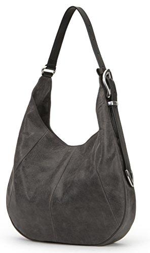 Hobo Grey Leather Jacqui Bag FRYE Shoulder F5YwHZq