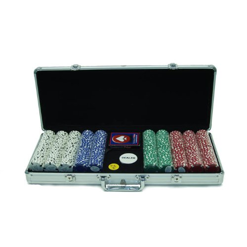 Trademark 500 Chip Texas Hold'em Set with Aluminum Case (Silver) by Trademark Global